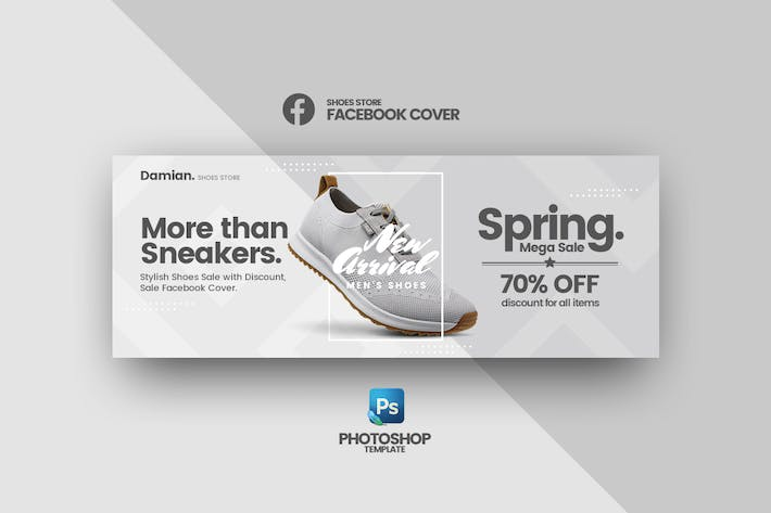 Thumbnail for Damian - Shoes Store Facebook Cover Template