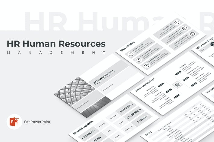 Thumbnail for HR Human Resources PowerPoint Template