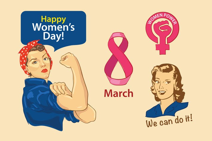 Thumbnail for Women's Day Cliparts