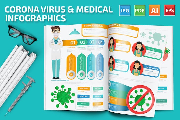 Thumbnail for Corona Virus & Medical Infographics