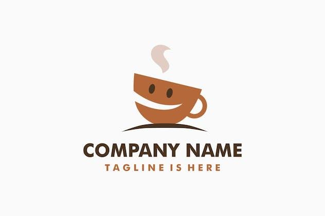 Happy Coffee Logo Template