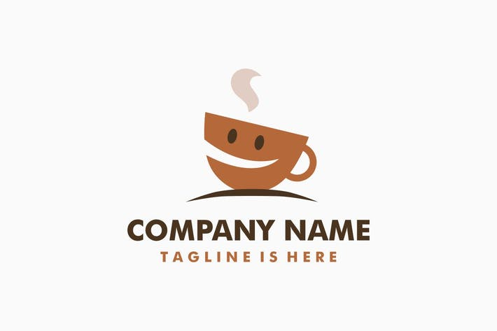 Thumbnail for Happy Coffee Logo Template