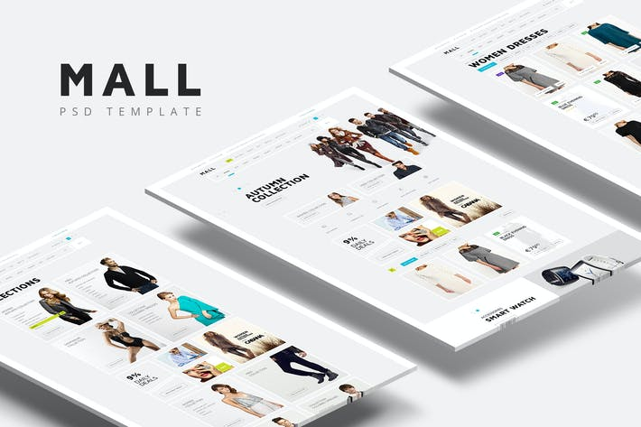 Thumbnail for Mall — Multi-Purpose eCommerce PSD Template