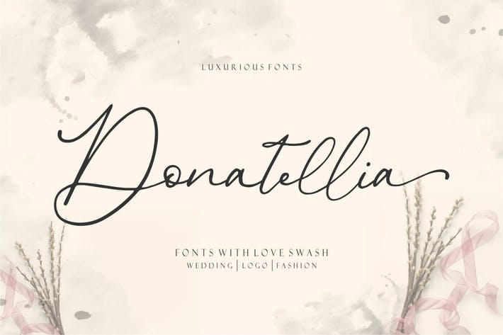 Thumbnail for Donatellia | Fuente de caligrafía