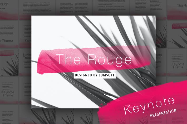 Thumbnail for The Rouge Keynote Template