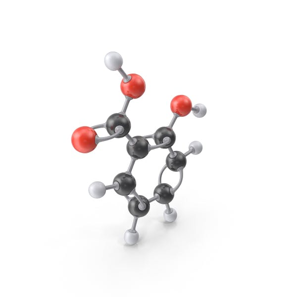Молекула салициловой кислоты