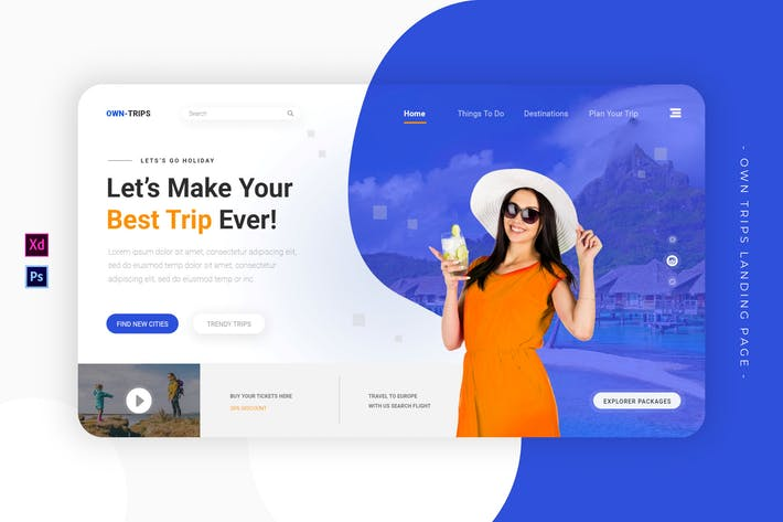 Thumbnail for Own Trips | Landing Page