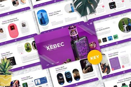 Xebec - Vape Shop Keynote Templates
