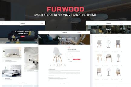 FurWood | Multi-Store Responsivo Shopify Tema