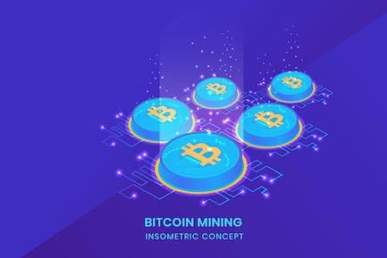 Bitcoin Mining - Insometric Vector