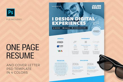 One Page Resume & Cover Letter Templates