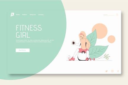 Fitness Girl - Landing Page GR