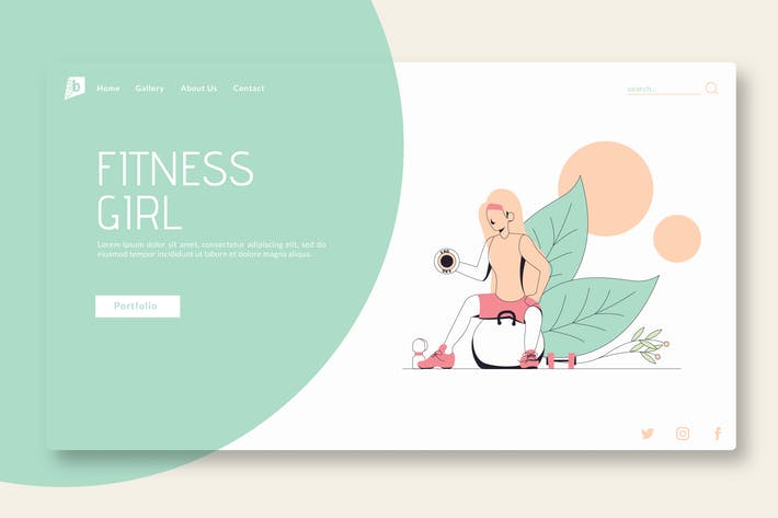 Thumbnail for Fitness Girl - Landing Page GR