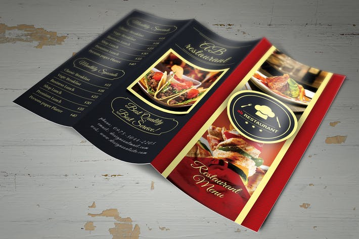 trifold restaurant menu template by designsoul14 on envato elements