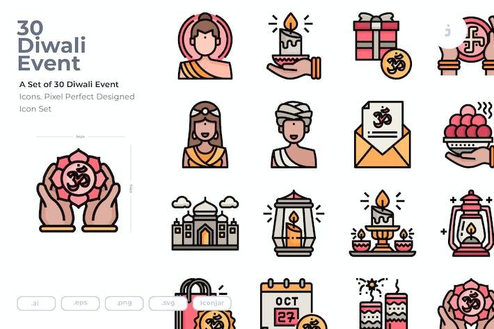 Thumbnail for 30 Íconos Diwali