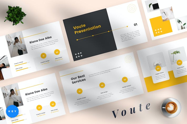Thumbnail for Voute - Pitch Deck Keynote Template