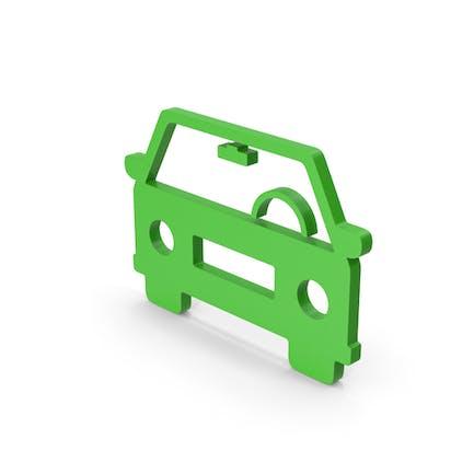 Symbol Car Green