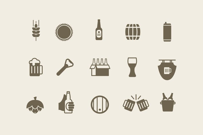 Thumbnail for 15 Beer Ale Icons