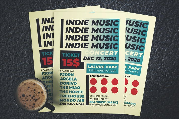 Thumbnail for Indie Music Concert Flyer