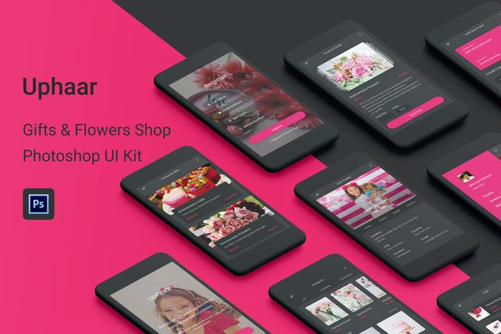 Thumbnail for Uphaar - Gifts & Flowers Shop Photoshop UI Kit