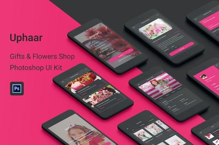 Thumbnail for Uphaar - Магазин подарков и цветов Photoshop UI Kit