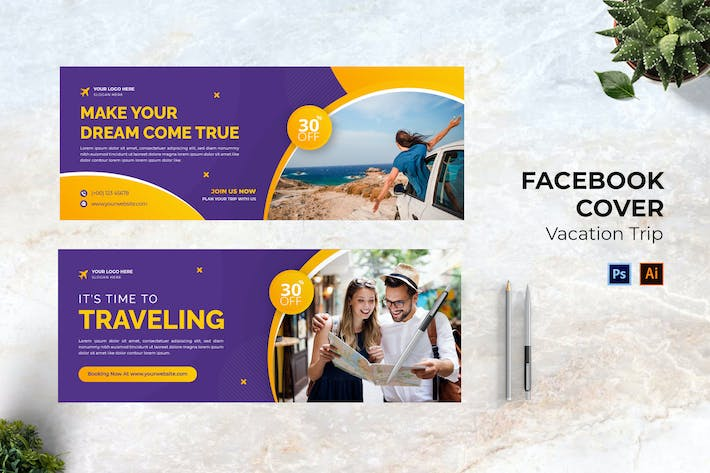 Vacation Trip Facebook Cover