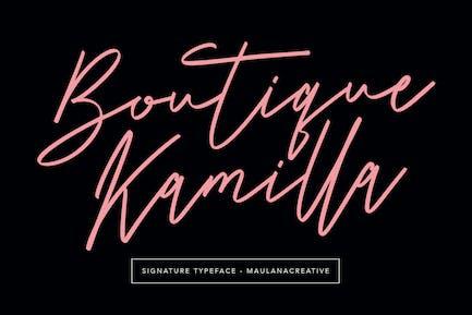 Boutique Kamilla Signature Typeface