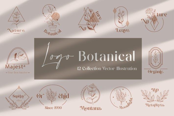 Thumbnail for Handgezeichnete Logos Botanical + Rahmen