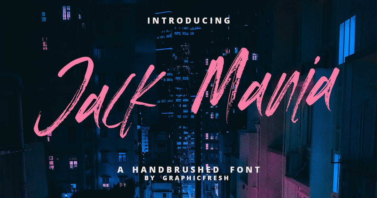Download The JACK MANIA Brush Font by sameehmedia