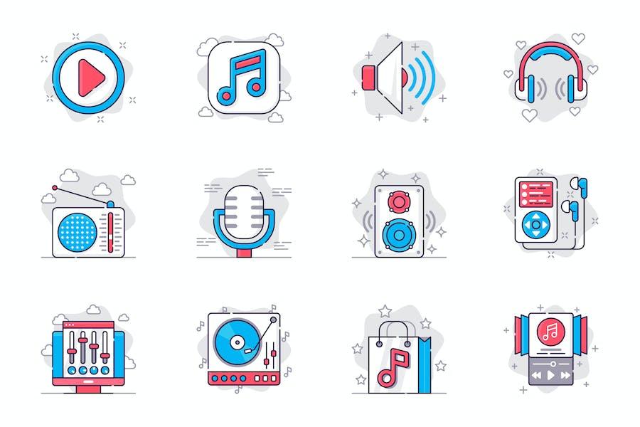 Music and Radio Station Icons Set