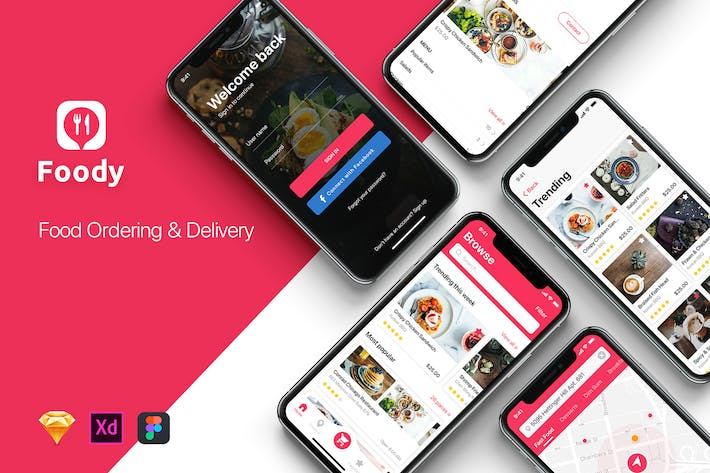Thumbnail for Food Ordering & Delivery UI Kit
