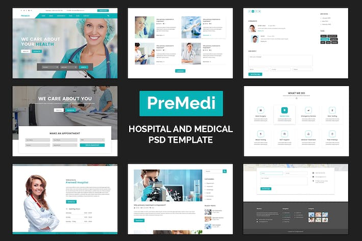 Thumbnail for PreMedi - Hospital And Medical PSD Template