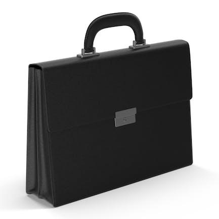 Schwarze Aktentasche