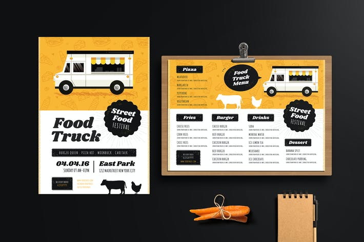 Thumbnail for Food Truck Festival Flyer & Menu