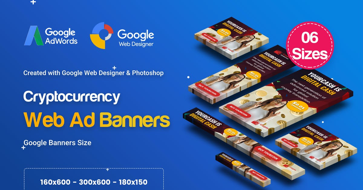 Download C79 - Cryptocurrency Banners HTML5 Ad (GWD & PSD) by iDoodle