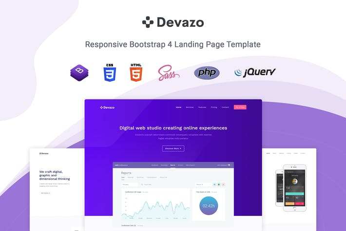 Thumbnail for Devazo - Landing Page Template