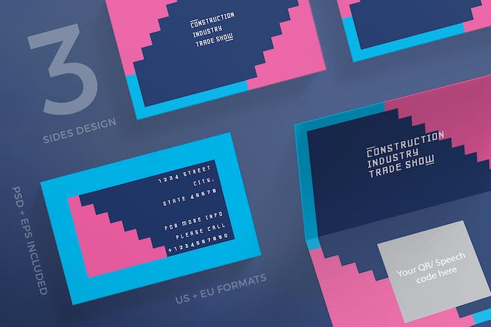 Thumbnail for Industry Show Business Card Template