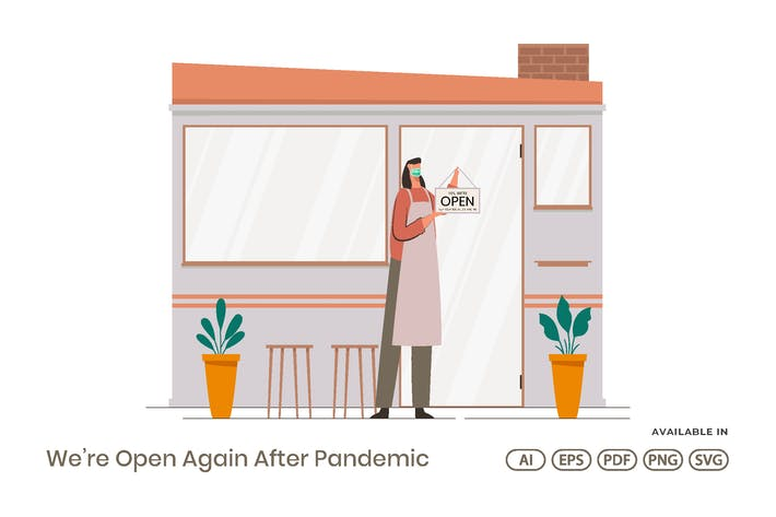 Wir sind wieder offen nach Pandemie