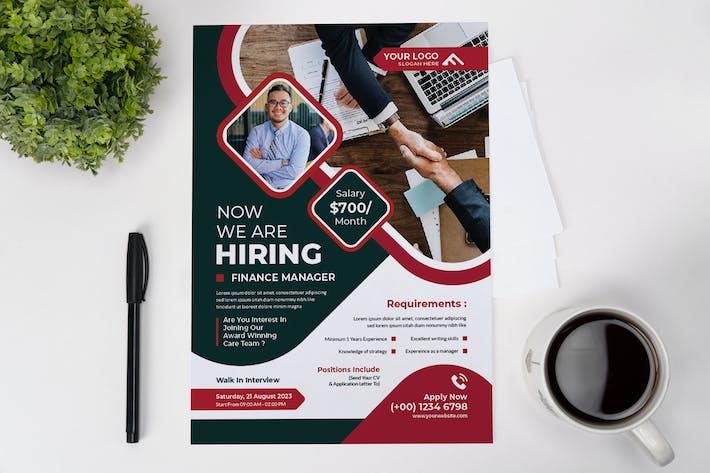 Finance Job Flyer