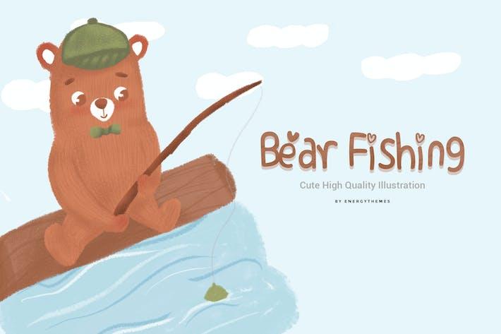 Thumbnail for Illustration 01 - Bear Fishing