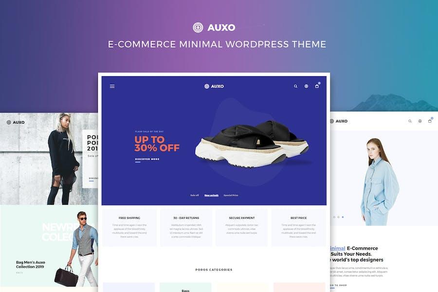 Axo — Tema mínimo WooCommerce WordPress