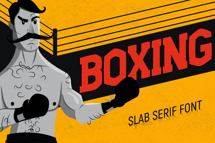 Thumbnail for Boxing - Slab Serif Font