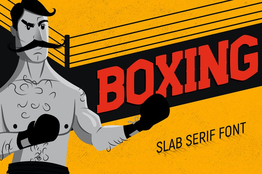 Boxing - Slab Serif Font