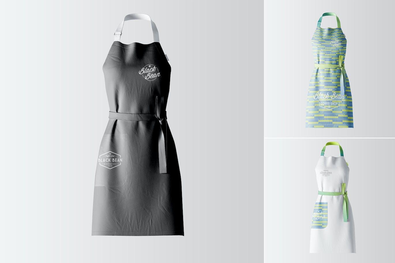 White apron mockup - Restaurant And Home Kietchen Apron Mockup 03