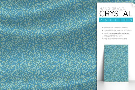 Crystal Pattern (Witchy Pattern Seamless)
