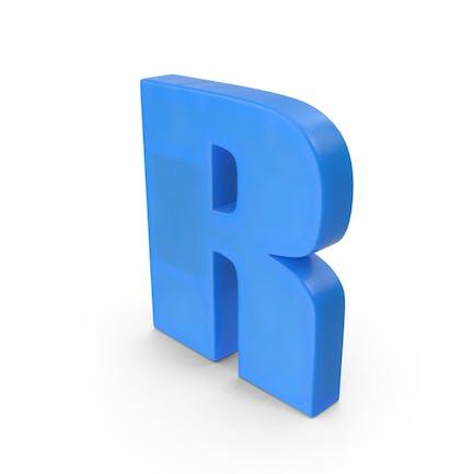 Imán de nevera alfabeto R