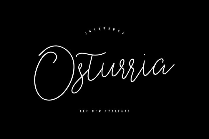 Cover Image For Osturria Typeface