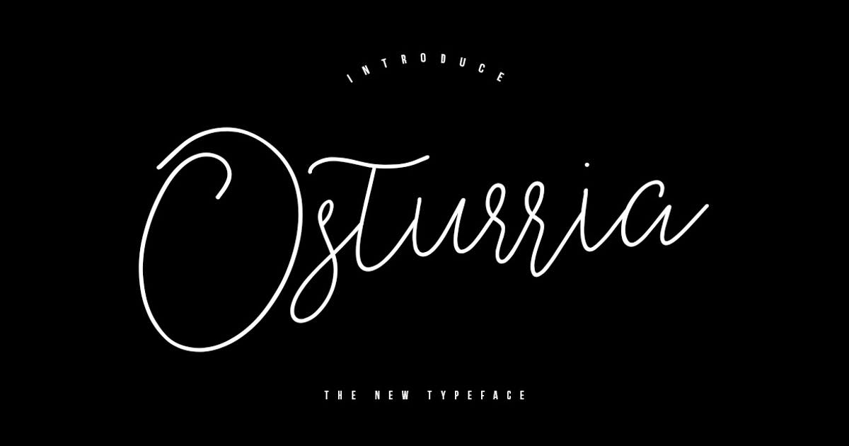Download Osturria Typeface by maulanacreative