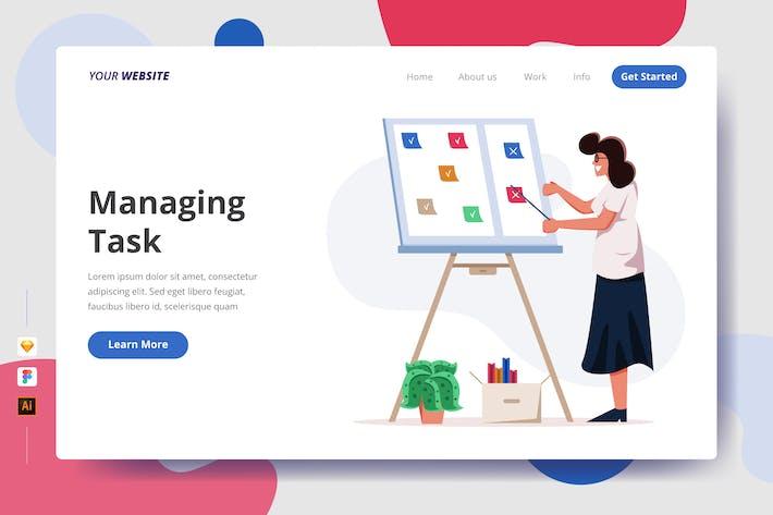 Thumbnail for Managing Task - Landing Page