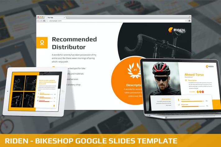 Thumbnail for Riden - Bikeshop Google Slides Template